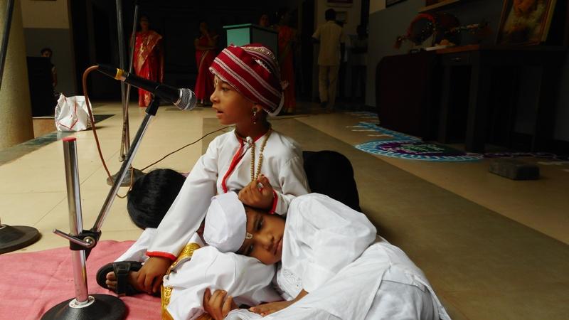 H.KG student performing drama