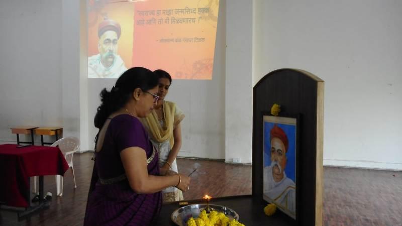 Photo pooja by Principal Madam