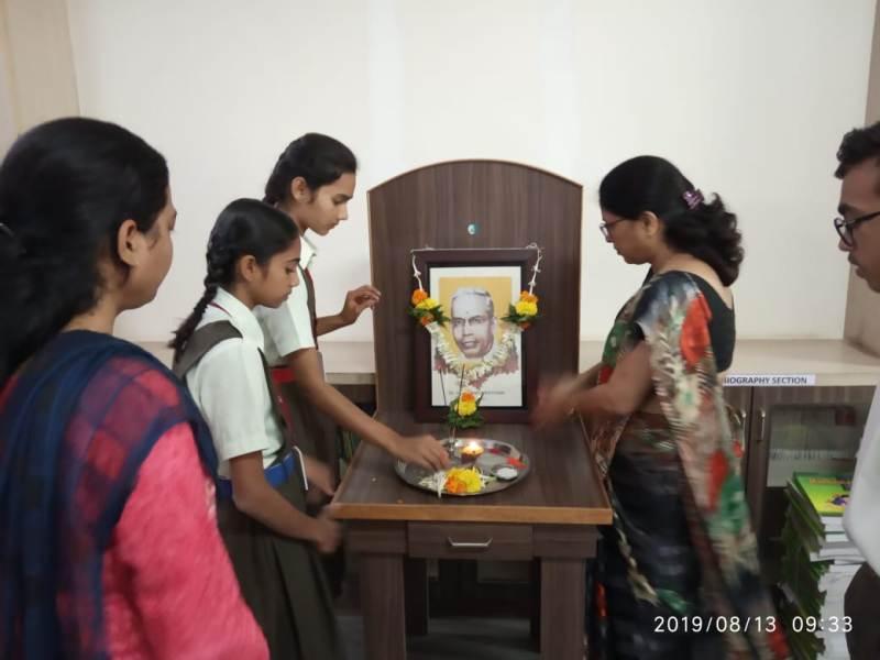 Pooja of Dr. S. R. Ranganathan Photo