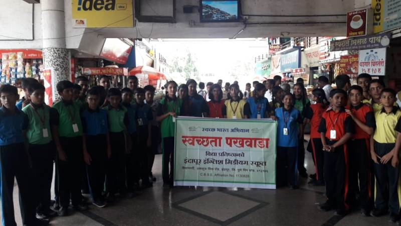 Cleanliness awareness in bus stand