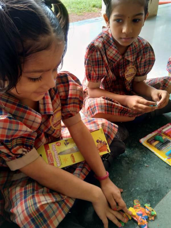 Clay shape making activity Pre- Primary (5)