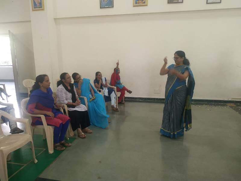 Game Act on account of Women\'s Day Celebration By Principal Mam
