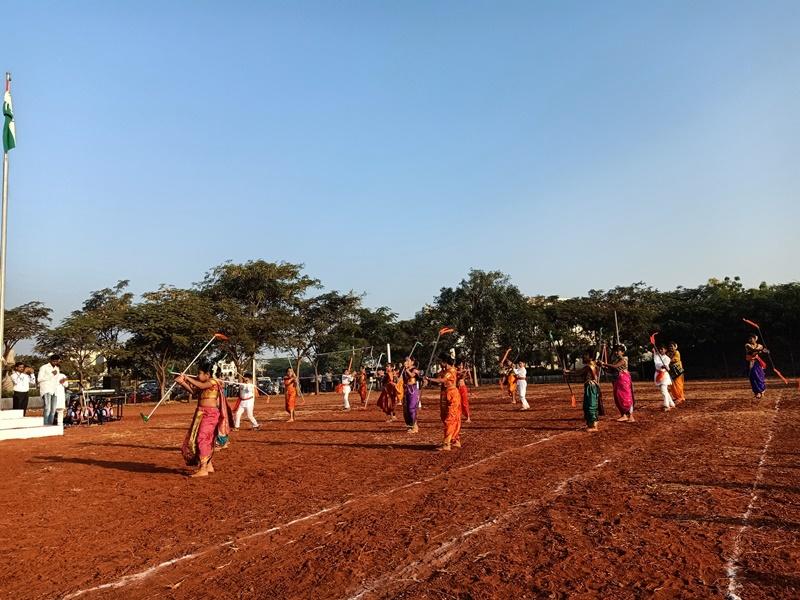 Girls Performing Lathi Kati