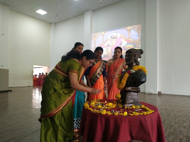 Idol poojan of Shivaji Maharaj on the account of Shiv Jayanti Celebration