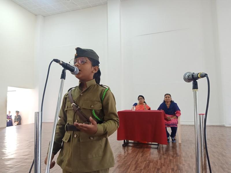 Miss Shelake Anjani Presenting Mono Act on account of Netaji Subhas Chandra Bose Jayanti