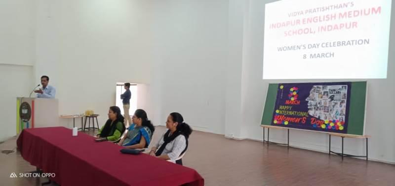 Music Techer Mr. Kulkarni sang a song for ladies teachers on account of women\'s day