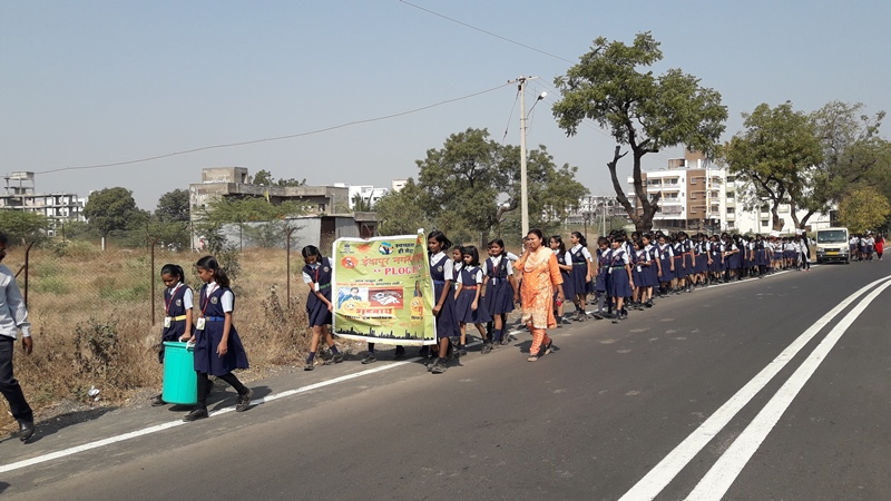 Plastic ban awareness rally by students