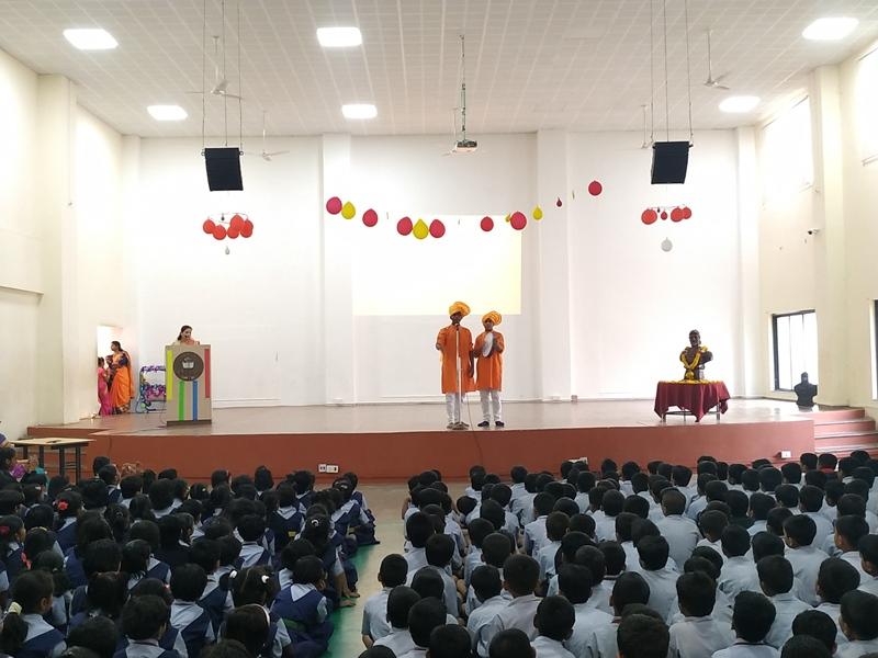Powada presentation by Shree Mane & Aryan Kamble on the account of Shiv Jayanti Celebration (2)
