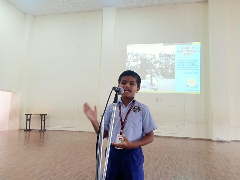 speech by Aadkar on account of Children\'s Day