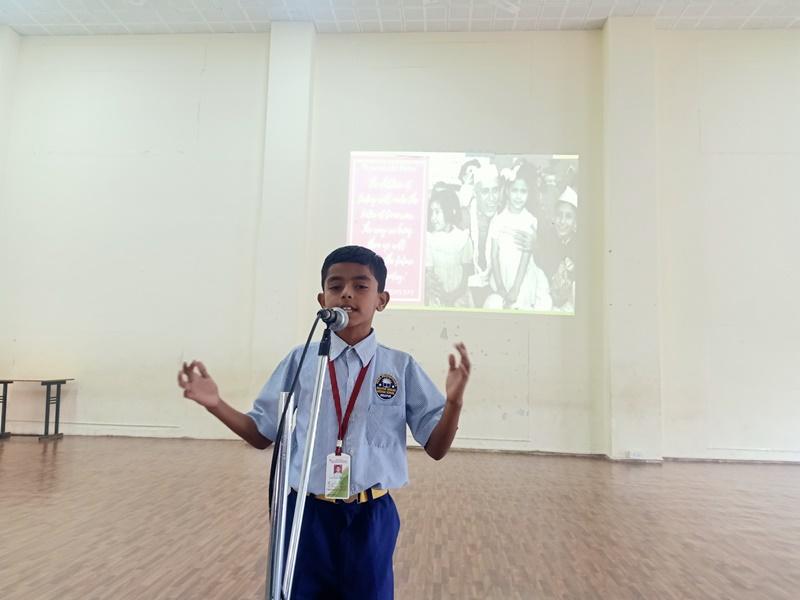 speech by Birudev Kharat on account of Children\'s Day