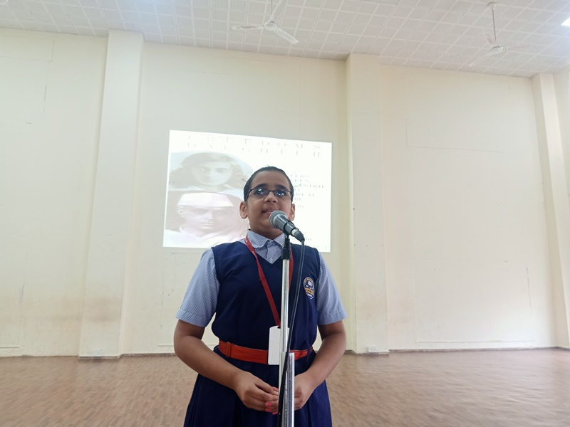 speech by Sharvari Babras on account of Children\'s Day (2)