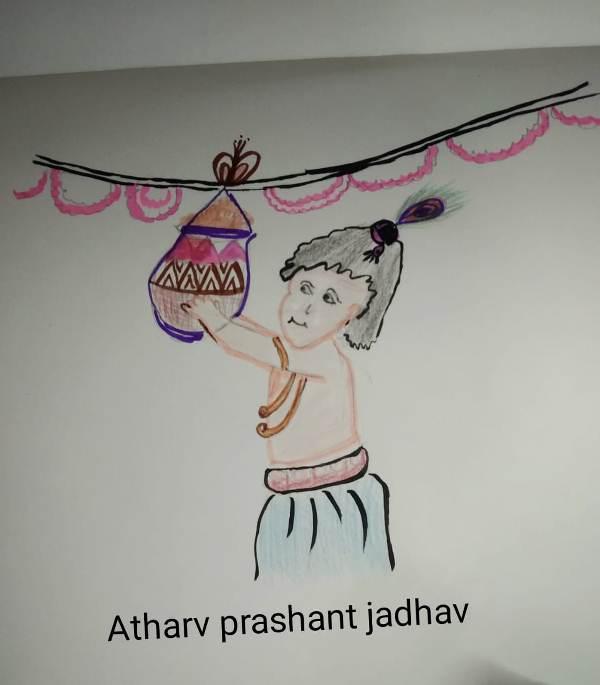 Janmasthimi Celebration 2020. Drawing Activity