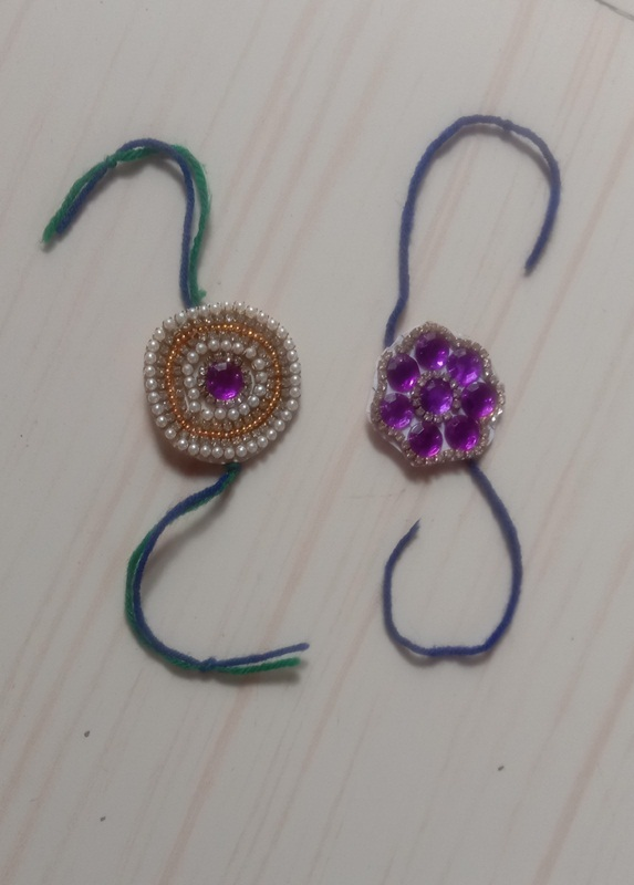 Rakhi made by Purva Raut std 4th B on the Occassion of Rakhi Making activty