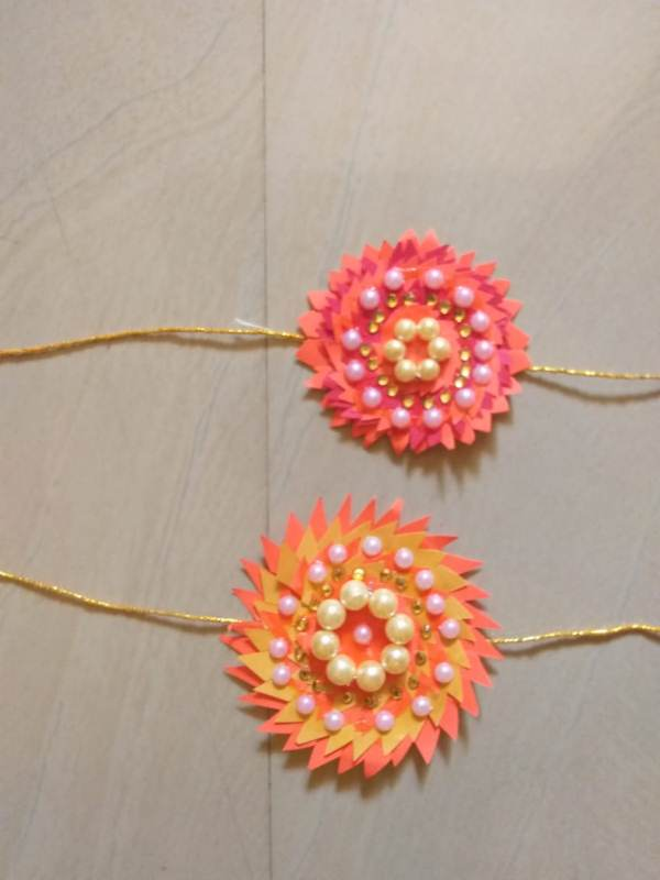 Rakhi made by Tamanna Shaik std 7th A on the Occassion of Rakhi Making activty .jpg