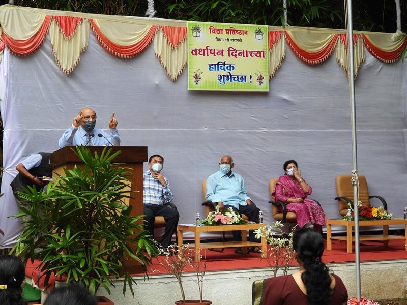 On Account Of 48th Raising Day of Vidya Pratisthan Ragistrar Karnal Shrre .Shirish Kamboj Addressing to Audience