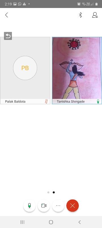 Tanishka Shingade VII- B drawing picture on account of Bhondla Celebration