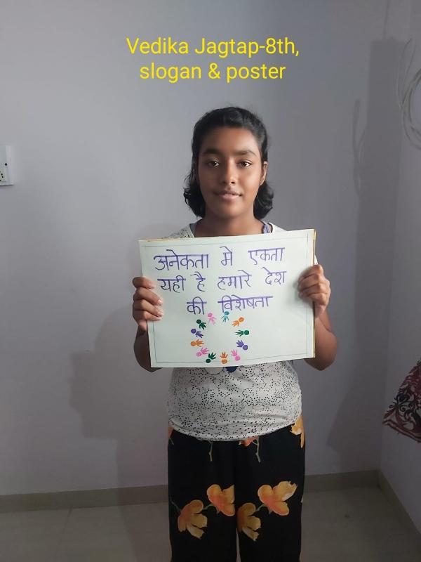 Vedika Jagtap, 8th, Poster & Slogan