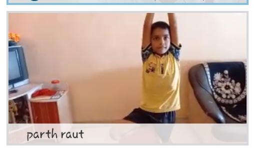 Fitness session at home - Vrukshasan