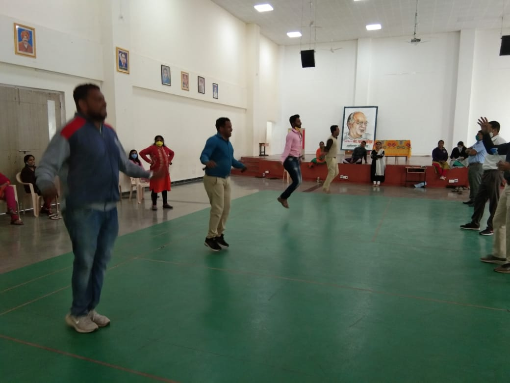 Fitness session for staff - Skipping