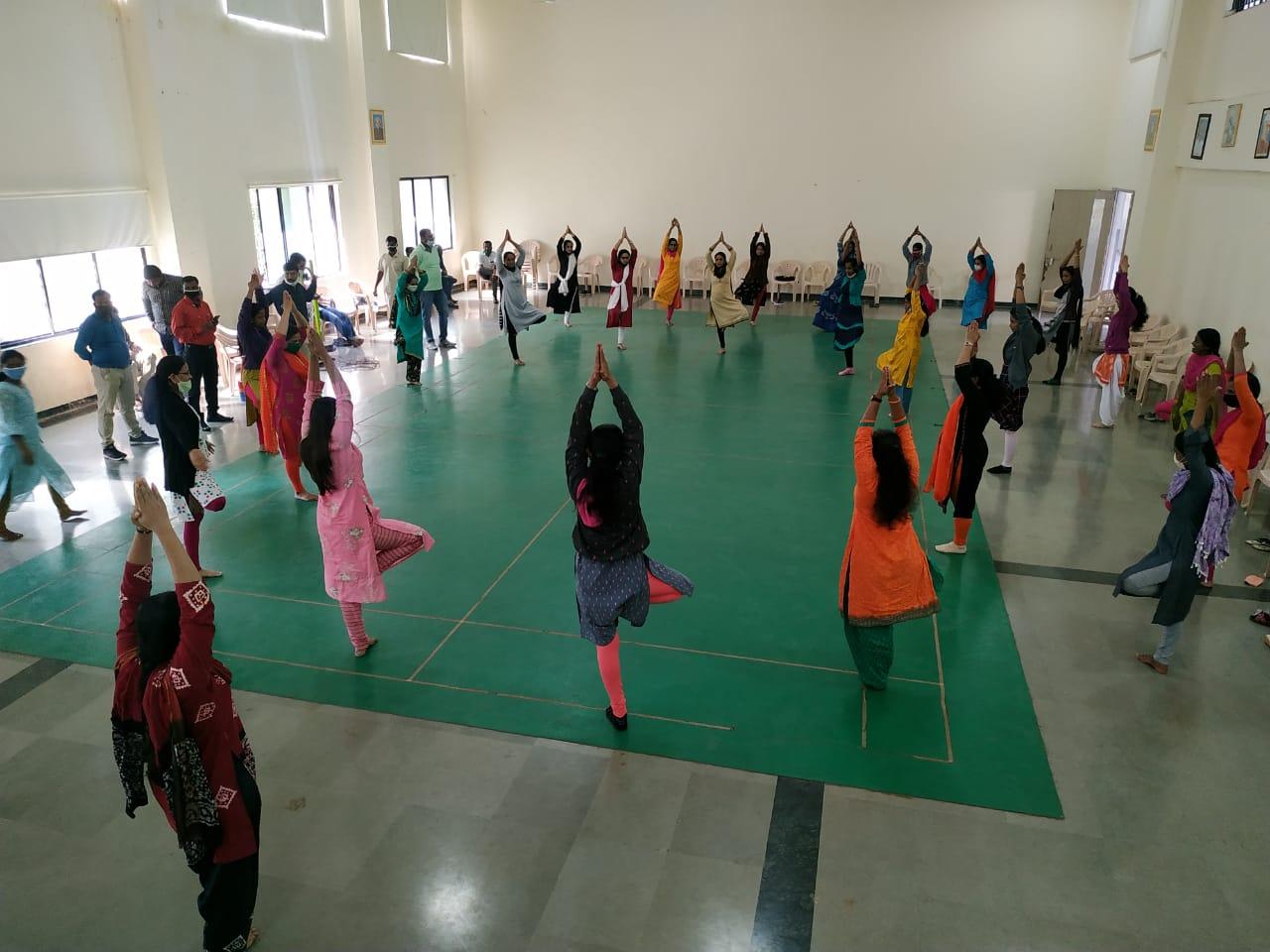 Fitness session for staff - Vrukshasan