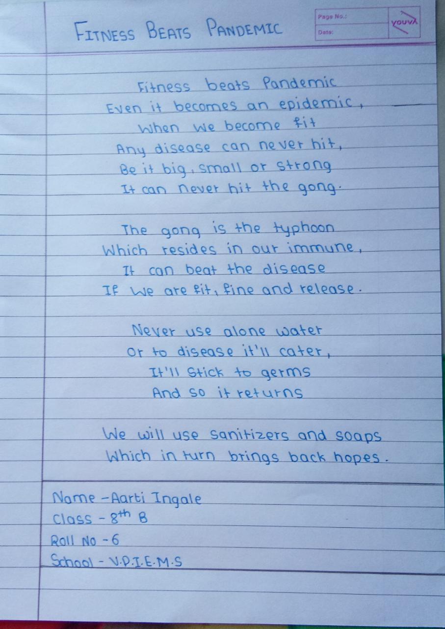 Poem on Fitness Beats Pandamic (2)