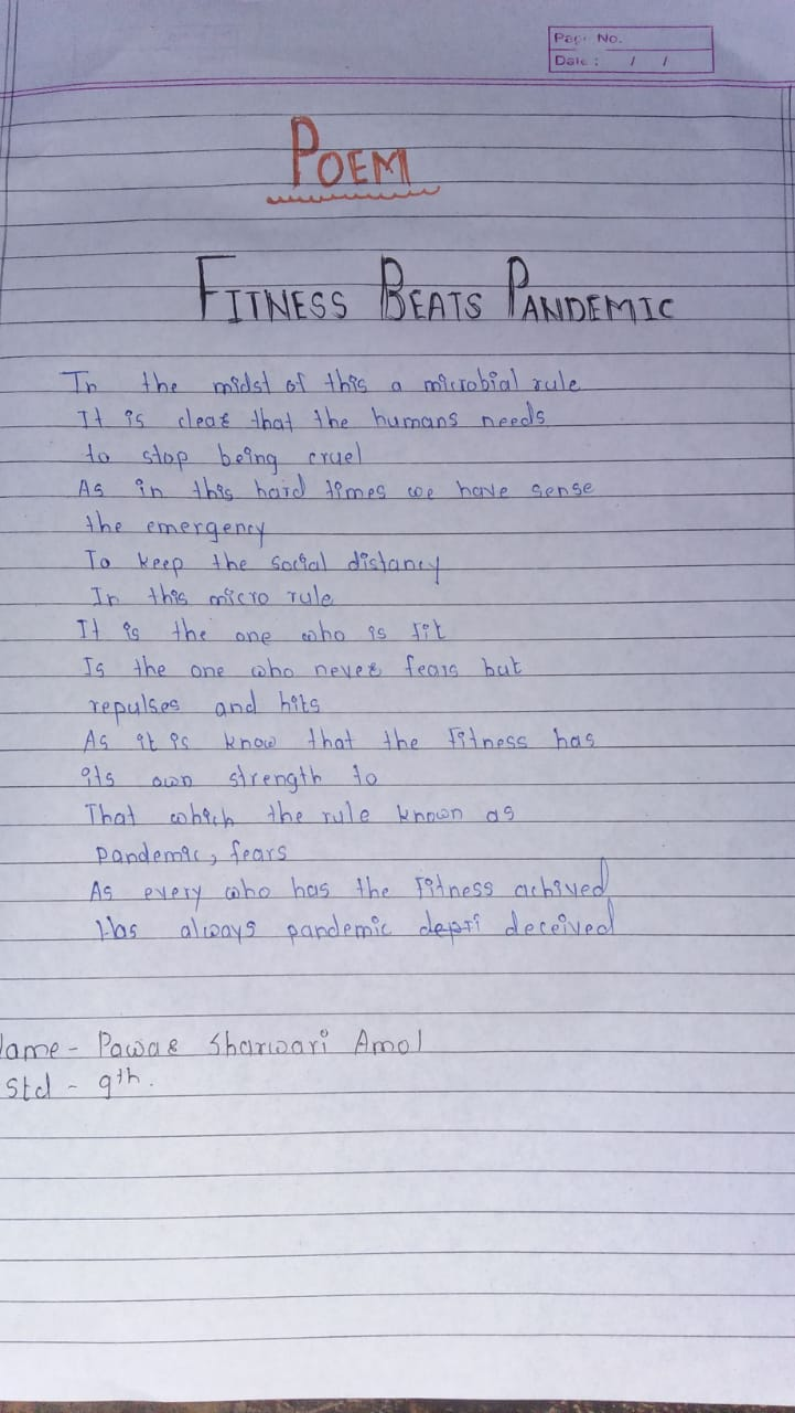 Poem on Fitness beats pandamic