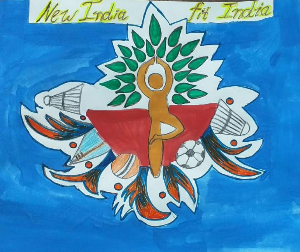 Poster on New India FIt India By Mast. Sai Shinde