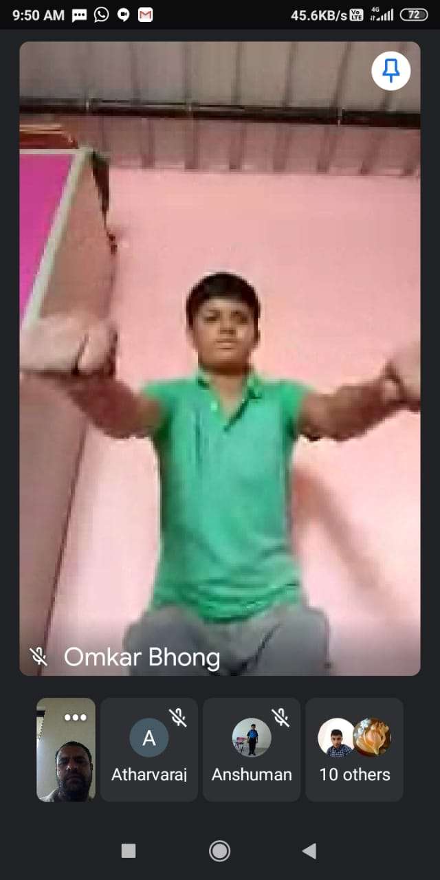 Virtual challenge of squats by Omkar Bhong