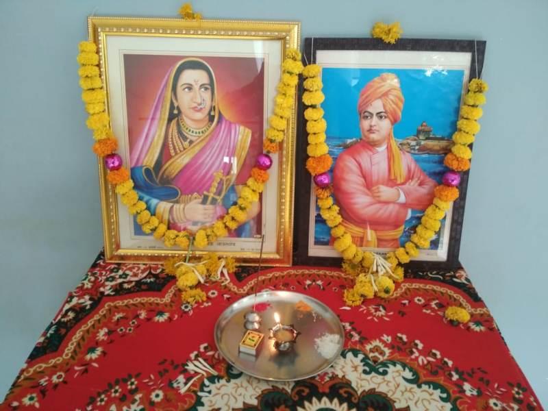 Celebration of Jijamata & Swami Vivekananda Jayanti in School