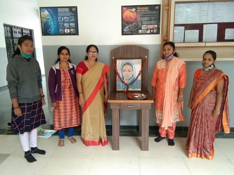 Savitribai Phule jaynti celebration with Principal MrsJyoti Jagtap
