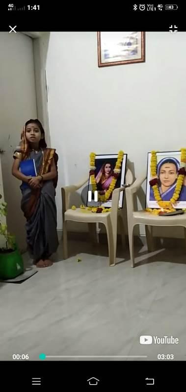 sai randive std 3B given speech on savitribai