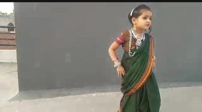 Sharvee Shah from Std I -B Performing Dance On Account of World Dance Day