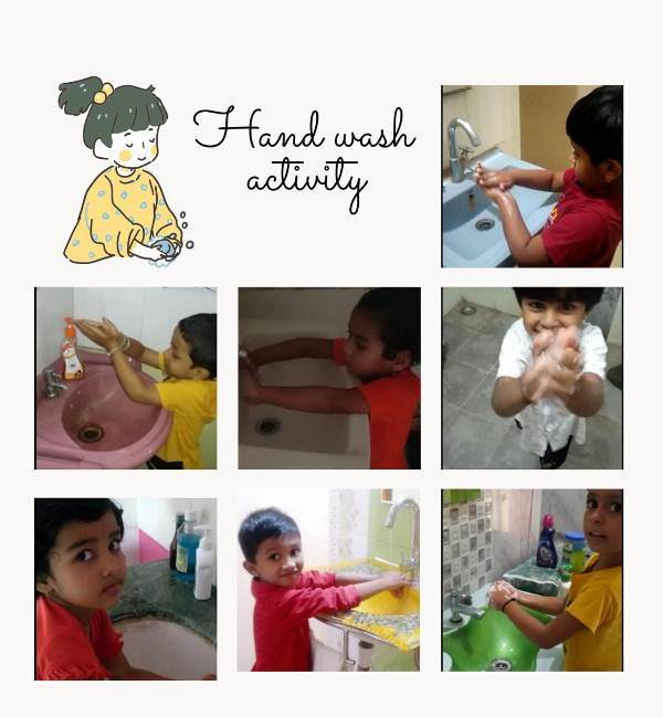 Hnad Wash Activity Priprimary Scetion class LK.G Daffodil