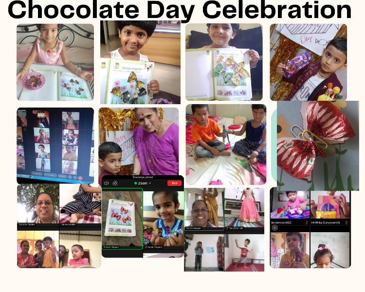 Online Pre-Primary Section Chocolate Day Celebration