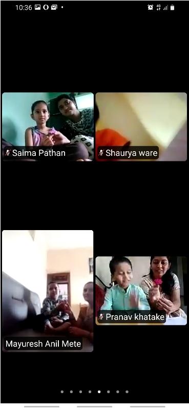 Pre - Primary Section Virtual Guru poornima Celebration