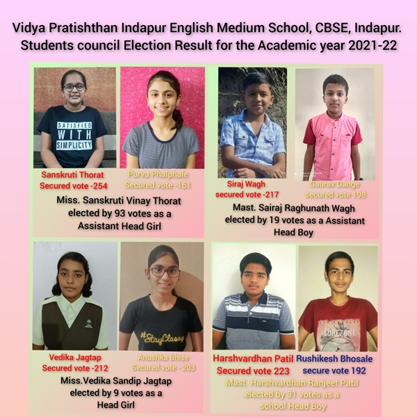 Result & Photos of Student Council