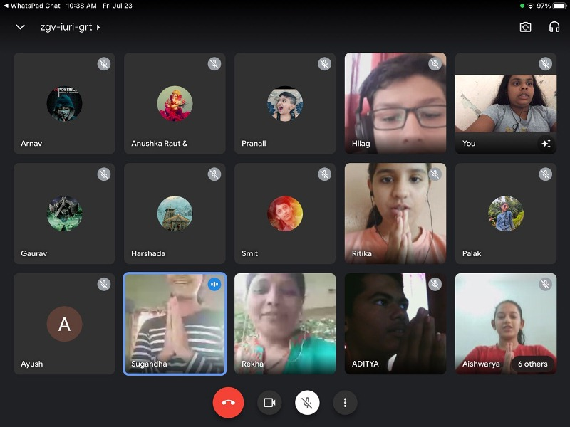 Students Virtual Guru poornima Celebration